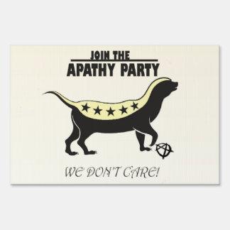 Join the Apathy Party/TweedleBama & TweedleMitt Lawn Sign