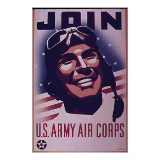 Join The Army Air Corps Poster