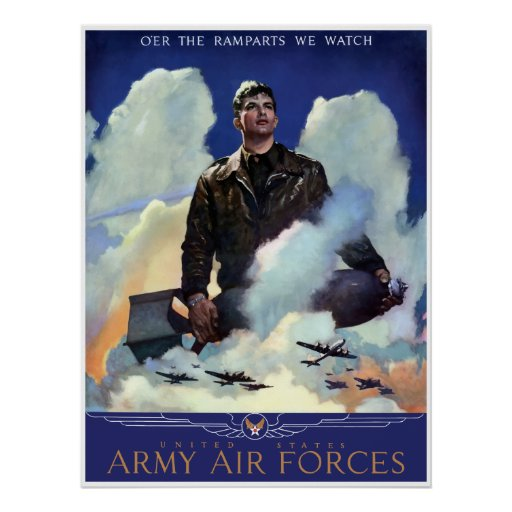 Join The Army Air Forces -- Border Poster