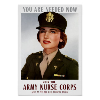 Join The Army Nurse Corps -- WWII Poster