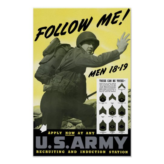 Join The Army -- WWII Poster