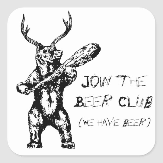 Join the Beer Club Square Sticker