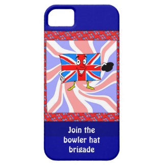 Join the bowler hat brigade iPhone SE/5/5s case