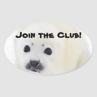 Join the club! oval sticker