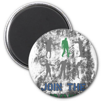 Join The Crowd Zombie Dead Skull Magnet