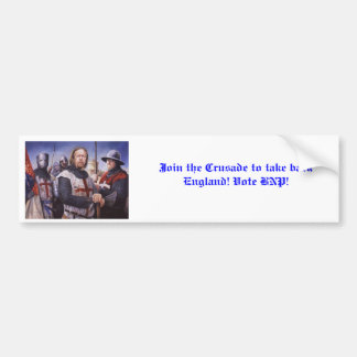 Join the Crusade to take back England! Car Bumper Sticker