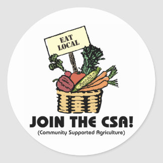 Join the CSA Classic Round Sticker