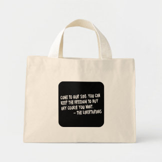 Join the dark side and become a Libertarian Mini Tote Bag