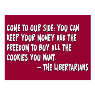 Join the dark side and become a Libertarian Postcard