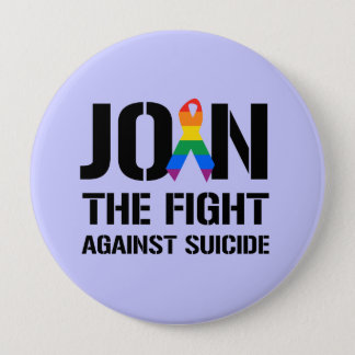 Join the fight against gay suicide button