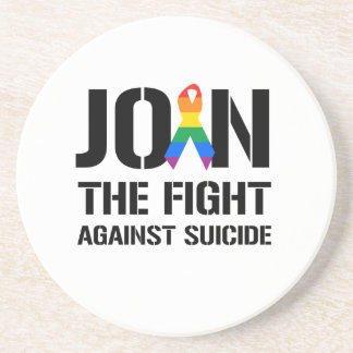 Join the fight against gay suicide drink coaster