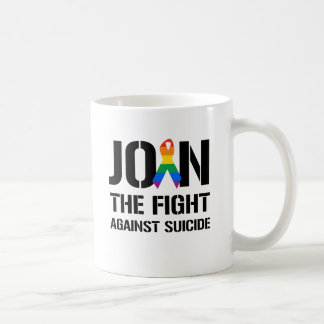 Join the fight against gay suicide classic white coffee mug