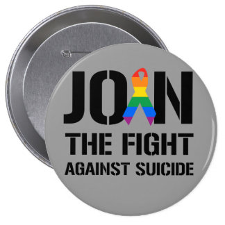 Join the fight against gay suicide pin