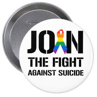 Join the fight against gay suicide pinback button
