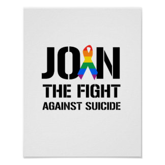 Join the fight against gay suicide poster