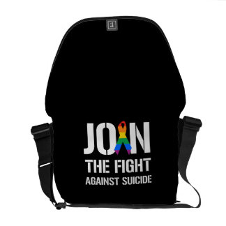 Join the fight against LGBT suicide Commuter Bag