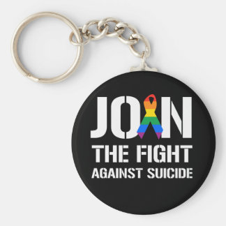 Join the fight against LGBT suicide Key Chain
