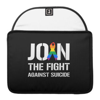 Join the fight against LGBT suicide MacBook Pro Sleeves