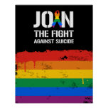 Join the fight against LGBT suicide Poster