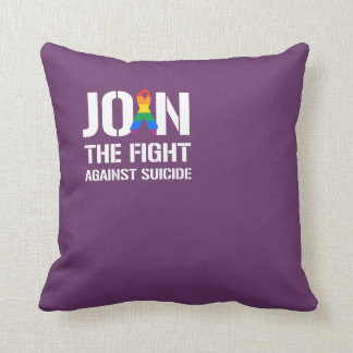Join the fight against LGBT suicide Throw Pillows