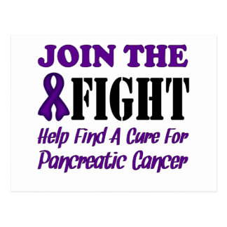 Join The Fight Find A Cure For Pancreatic Cancer Postcard