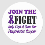 Join The Fight Find A Cure For Pancreatic Cancer Classic Round Sticker