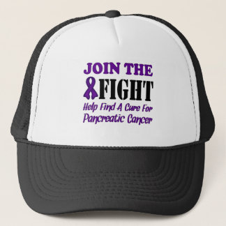 Join The Fight Find A Cure For Pancreatic Cancer Trucker Hat