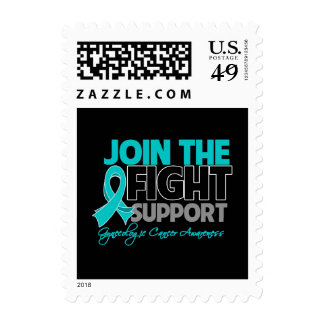 Join The Fight Gynecologic Cancer Awareness Postage Stamps