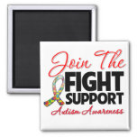 Join The Fight Support Autism Awareness Fridge Magnets