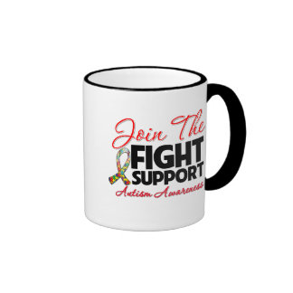 Join The Fight Support Autism Awareness Mug