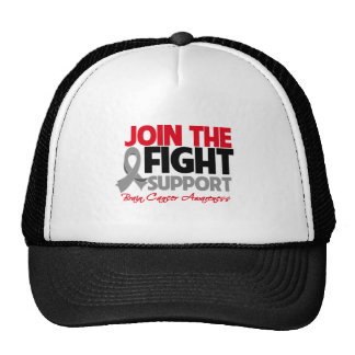 Join The Fight Support Brain Cancer Awareness Trucker Hats