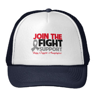 Join The Fight Support Brain Cancer Awareness Mesh Hat
