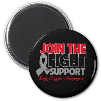 Join The Fight Support Brain Cancer Awareness Fridge Magnet