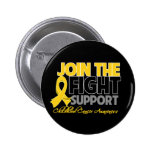 Join The Fight Support Childhood Cancer Awareness Pin