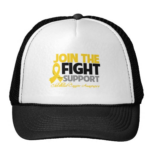 Join The Fight Support Childhood Cancer Awareness Trucker Hat