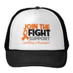 Join The Fight Support Leukemia Awareness Trucker Hat