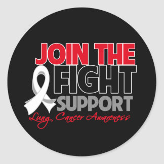 Join The Fight Support Lung Cancer Awareness Classic Round Sticker