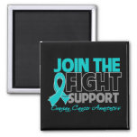 Join The Fight Support Ovarian Cancer Awareness 2 Inch Square Magnet