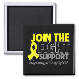 Join The Fight Support Sarcoma Awareness 2 Inch Square Magnet