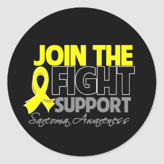 Join The Fight Support Sarcoma Awareness Classic Round Sticker