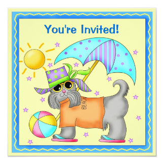 Join the Fun Dog Beach Pool BBQ Cookout Card