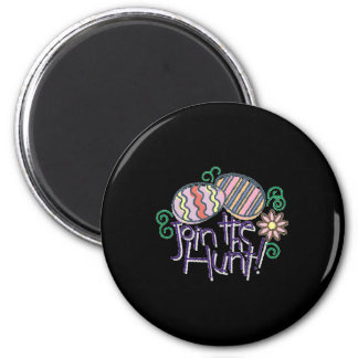 Join the Hunt Easter Eggs 2 Inch Round Magnet