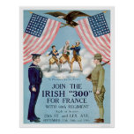 """Join the Irish """"300"""" for France (US02064) Posters"""