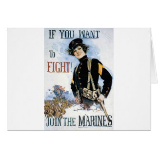 JOIN THE MARINES VINTAGE POSTER ART PRINT CARD
