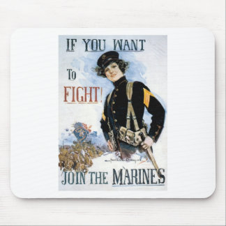 JOIN THE MARINES VINTAGE POSTER ART PRINT MOUSE PAD