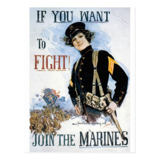 JOIN THE MARINES VINTAGE POSTER ART PRINT POSTCARD