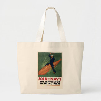 Join the Navy Large Tote Bag