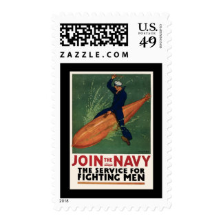 Join The Navy The Service For Fighting Men Postage