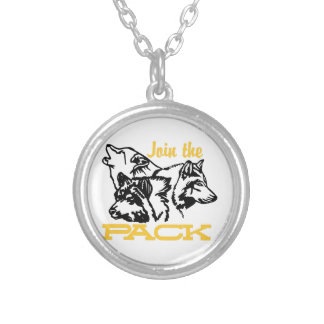 Join The Pack Round Pendant Necklace