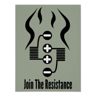 Join The Resistance - Light Olive Drab Poster